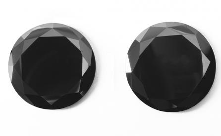 New Large Black Synthetic Moissanite as a Black Diamond Imitation